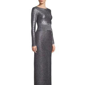 St. John metallic gown/caviar